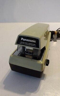 Vintage Panasonic Commercial Electric Stapler As-300 Adjustable Depth Tested