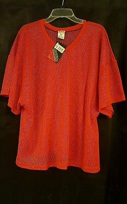 Champro Sports Men Red Athletic Apparel Mesh Jersey Football  Adult XL NWT
