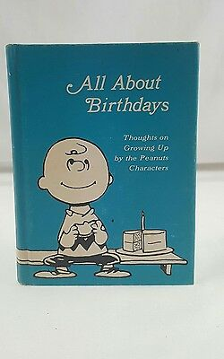 All About Birthdays Hallmark Peanuts Characters Charlie Brown Snoopy Book 1968](All Peanuts Characters)