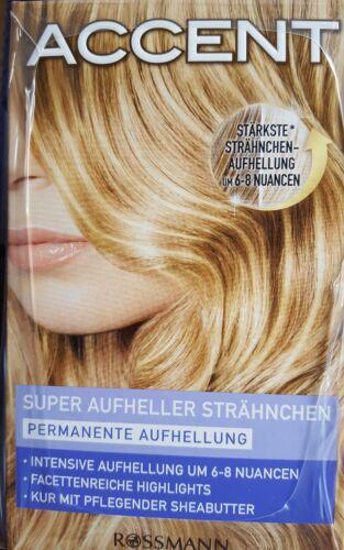 Haarfarbe Super Aufheller Strähnchen Permanente Aufhellung - BLOND -