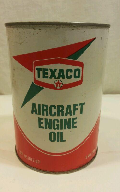 Vintage Texaco Aircraft Engine Oil Can Full 7-79 / 120 SAE 70 ( 39+ YRS. )