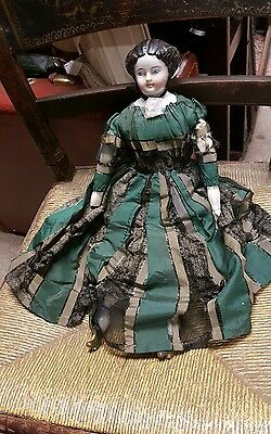 ANTIQUE 1800s GERMAN? american? French? China Doll china head arms feet