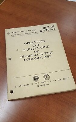 TM 55-202 Vintage Operation and Maintenance of Diesel Electric Locomotives Army