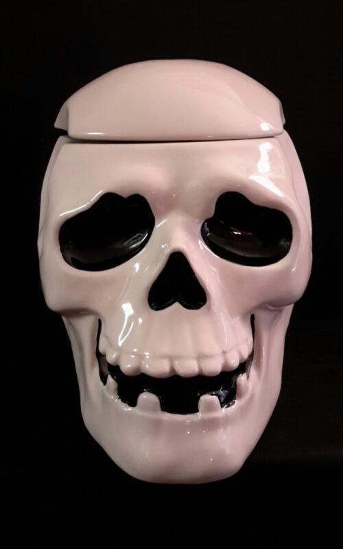 Halloween Skull Cookie Jar Treat Jar From Martha Stewart
