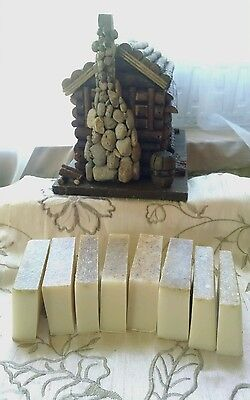 Over 1 Pound Assorted 6 8 End  Miscut Bars Handmade Homemade Goat Milk Soap Lot
