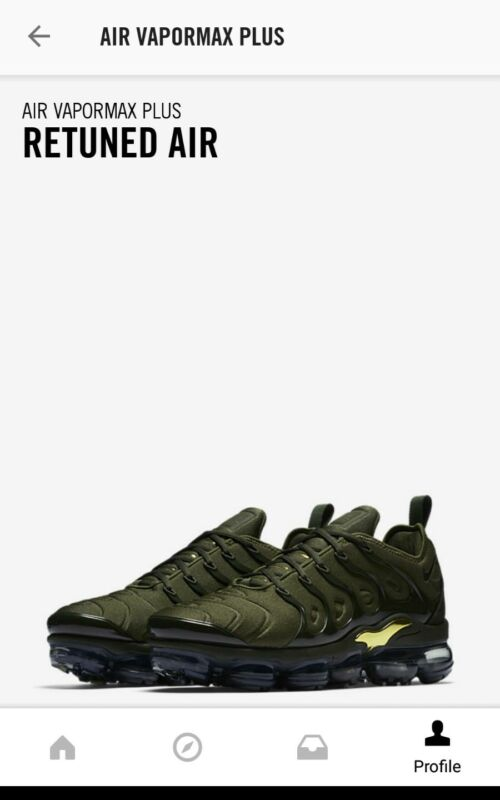451130249b5 924453 300  NIKE AIR VAPORMAX PLUS CARGO KHAKI SEQUOIA C GREEN Sz9.5 ...