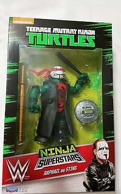 WWE Ninja Turtles NINJA SUPERSTARS Raphael as Sting WWE Walmart Exclusive