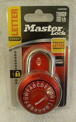 Master Lock Letter Combination Padlock Red School Locker C