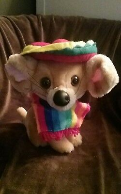 Chihuahua Wearing Poncho and Sombrero Plush - Poncho And Sombrero