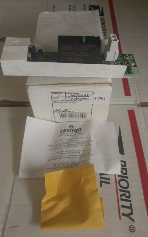 Leviton RELAY-LAT Z-Max Latching Relay Card
