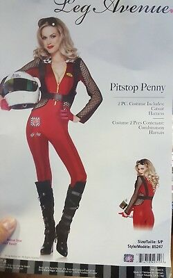 Pitstop Penny Race Car Driver Sexy  Woman Costume Leg Avenue 85247 Catsuit