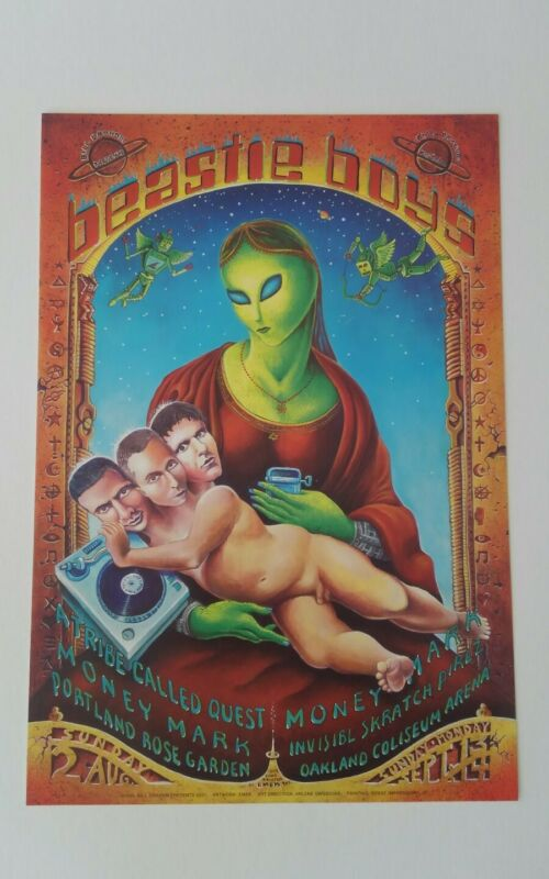 Beastie Boys Vintage Poster from 1998 Emek A Tribe Called Quest