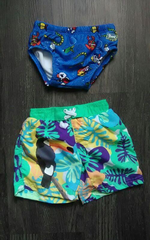 Boys Swim Lot BANZ UPF 50+ 6-8 Mo Reusable Diaper/SOL 3-6 M Months Shorts/Trunks