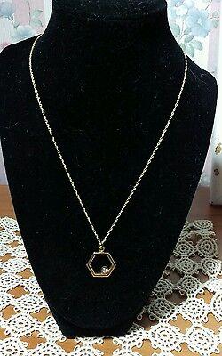 14 kt yellow gold Octagon Diamond Pendant 18