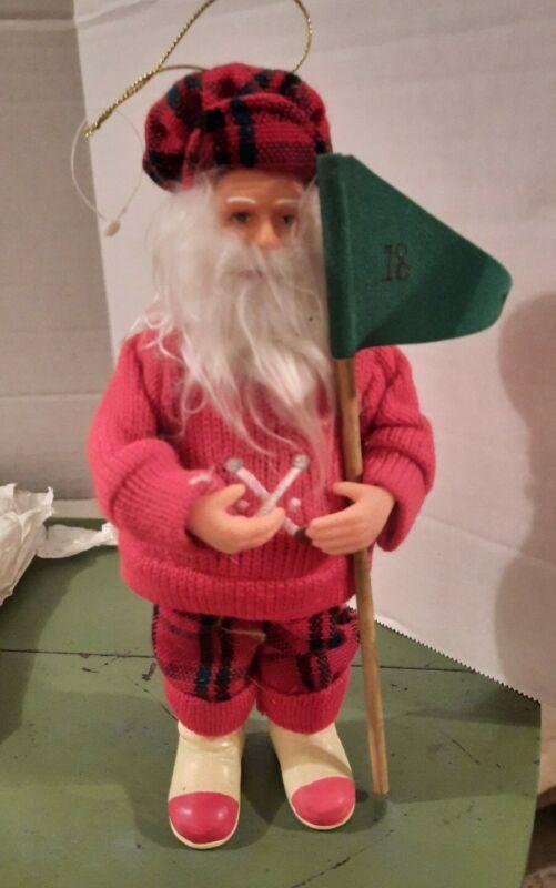 Golfer Santa Claus Doll