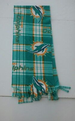 (NFL FLEECE MIAMI DOLPHINS APPROX 60 x 10 inches  UNISEX MULTI- COLOR STRIPES)