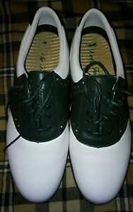 LADY FAIRWAY Green & White ,Leather upper Golf Shoes Woman's Size 7.5