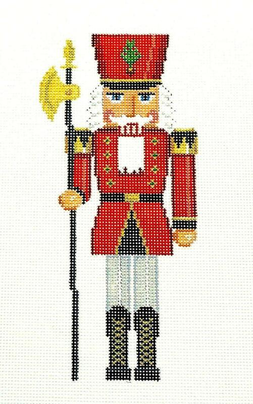 SP.ORDER ~ The Red Guard Nutcracker HP Needlepoint Ornament by Susan Roberts