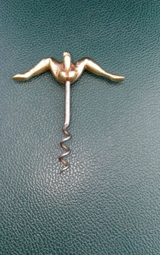 Rare tire bouchon ancien erotique - bronze