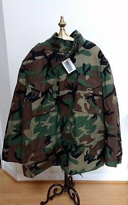 NWT  1999 G.I. Issue M65 Field Jacket Woodland Camo XLarge Long Fits XXL
