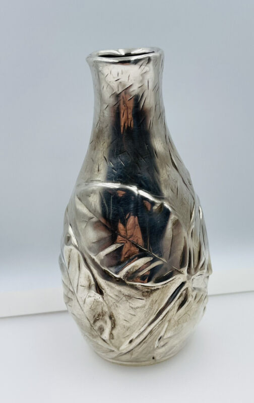 Tiffany & Co. Louis Comfort Collection Vintage Sterling Silver Leaf Flower Vase