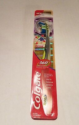 Colgate Yellow Total360 4 Zone Whole Mouth Clean Man Toothbrush Soft - Free Ship