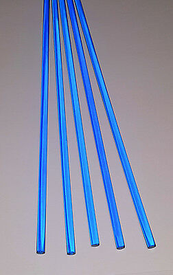 5 Pc 14 Diameter 24 Inch Long Clear Blue Acrylic Plexiglass Translucent Rod
