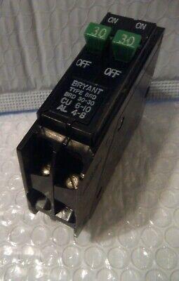 Bryant Brd30-30 2 Pole Tandem 30-30amp 120240v Plugin Circuit Breakers Nos