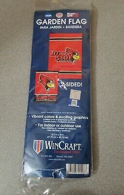 NEW * Illinois State Redbirds * Licensed 2 Sided Garden Flag 12.5