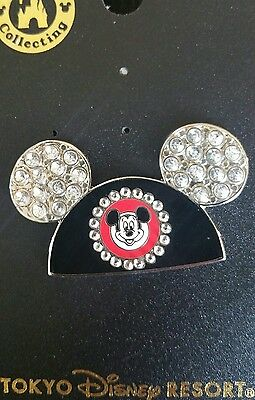 Japan Tokyo Disney TDL Pave Pavé Jeweled Mickey Mouse Club Ear Hat Pin