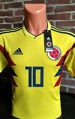 8657dd99ec2 AUTHENTIC ADIDAS 2018 COLOMBIA WORLD CUP HOME JERSEY..JAMES  10... SIZE M..
