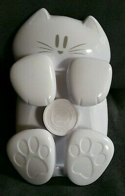 Post-it White Kitty Cat Pop-up Sticky Notes Dispenser Paper Weight