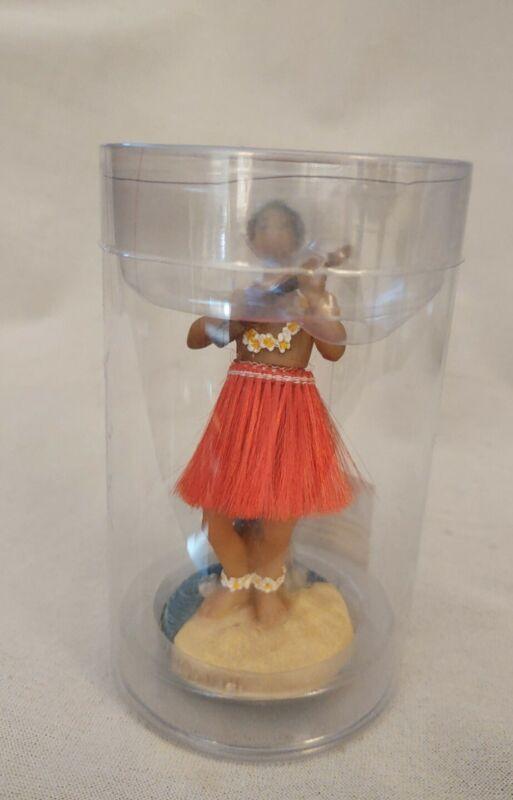 """Hawaiian Dashboard Male Hula Doll 2006 4"""" Tall NIB"""