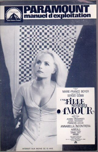 Marie-France BOYER Sergio GOBBI pressbook UNE FILLE NOMMEE AMOUR