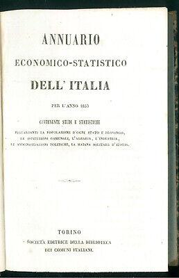 ANNUARIO ECONOMICO STATISTICO DELL'ITALIA PER L'ANNO 1853 BIBLIOTECA DEI COMUNI