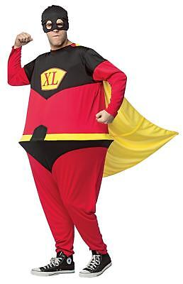 Superhero Hoopster Halloween Costume Mens Adult Funny Animated Cartoon Jumpsuit - Funny Superheroes Costumes