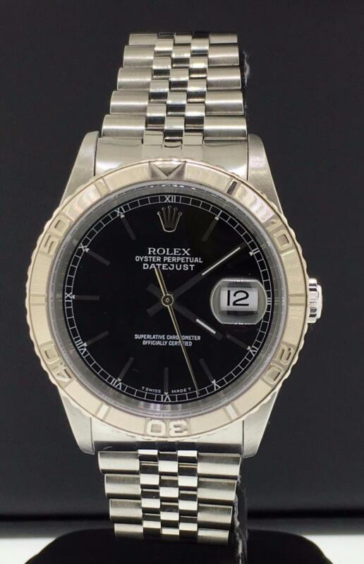 Rolex Datejust Turnograph Ref. 16264 Steel 36mm 18k White Gold Bezel