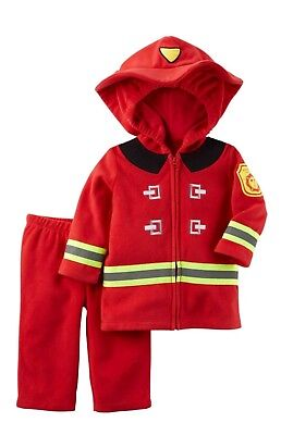 NWT Carter's Toddler Baby Halloween Costume Fire Fighter Fireman Size 3-6 months - Toddler Fireman Halloween Costume