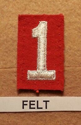 Felt Number (BSA RED FELT TROOP UNIT NUMBER 1-(EXCELLENT CONDITION) GAUZE BACK 1927~52)