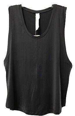 Fabletics Demi Lovato Kortney Top Sleeveless Tank Top Shirt NWT Grey Large 10-12