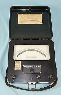 Vintage Weston Model 622 Thermo Ammeter Or Milliammeter Test Meter