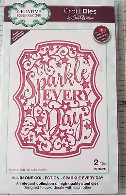 CREATIVE EXPRESSIONS ALL IN ONE COLLECTION - SPARKLE EVERY DAY DIE SET...