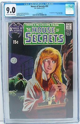 House of Secrets #92 CGC (VF/NM) 9.0 Bronze Age, 1st App. of Swamp Thing!!