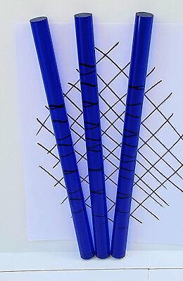 "1 PC 3/4"" DIAMETER 18"" INCH LONG CLEAR  BLUE ACRYLIC PLEXIGLASS LUCITE COLOR ROD"