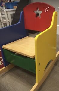 Guidecraft Real Wood Multicolored Child's Rocker with Storage