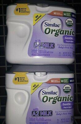 Similac Organic Gentle A2 Milk Powder Baby Formula 23.2oz Lot Of 2 New