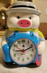 Vintage Rhythm? Talking Alarm Clock cowboy pig Quartz 555