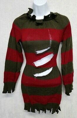 Women's Freddy Krueger Costume (Nightmare On Elm Street Freddy Krueger Sweater Costume Women's Petite)