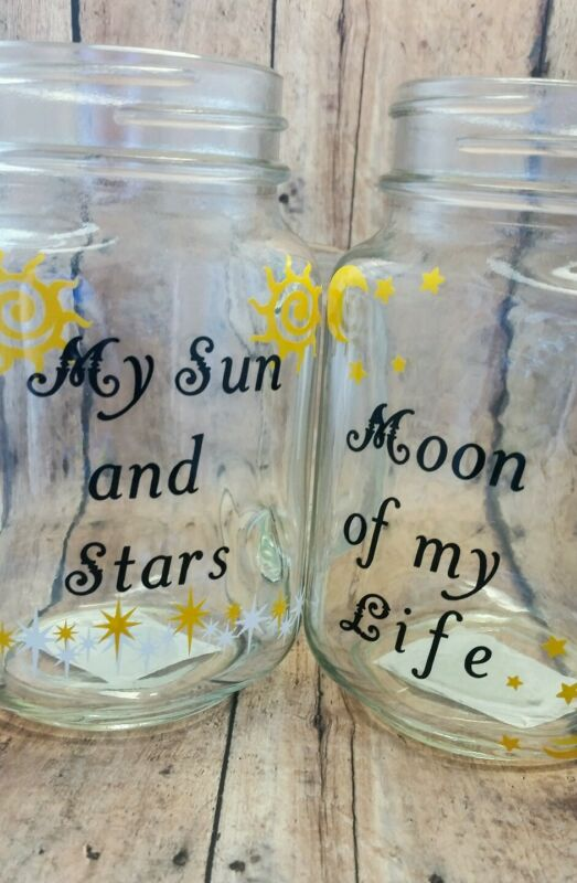 Game of Thrones Glass Mug, My Sun and Stars, Moon of my Life, Khaleesi clear