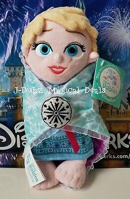 NWT Disney Babies Elsa Princess Plush Doll Frozen Authentic Shanghai Resort